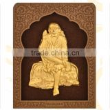 3D gold foil home decor about Indian God hot selling in India