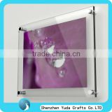 cheap custom clear acrylic waterproof picture photo frame wall mounted photo frame for wedding anniversary wholesale