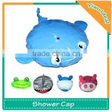 Hot Sale Waterproof PVC Animal Baby Shower Cap