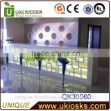2014 unique beauty salon furniture reception desk/ fashion design cash counter/ beauty salon reception desks