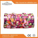 China supplier cotton pretty quilted fabric duffel bulk beach bags