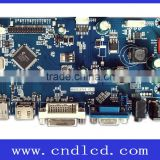 Full HD resolution LCD Monitor Display solutions Driver Controller Card with DP HDMI DVI VGA to LVDS