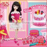 28cm New arrival fashion Chinese plastic doll toys with accessories
