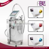 3 in 1755nm/808nm/1064nm combined diode laser hair removal machine with CE approved for beauty salon use