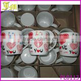 heart shape ceramic coffee cup wholesale white tea cups