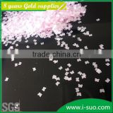 Pink butterfly shapes poly flake glitter for screen printing
