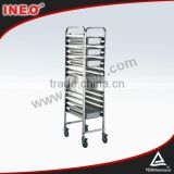 Restaurant Stainless Steel Bakery Trolley/Cake And Bread Trolley/Stainless Steel Tray Rack Trolley