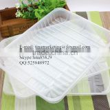Eco-friendly Plastic disposable Food Carry Tray/ Supermarket Food Display Tray
