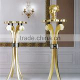 Gilt Simplicity and Symmetry Flower Stand, Attrative Crystal Decoration Flower Stand, Bouquet Design Flower Stand