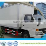 China 3 tons to 4 tons 6 wheel jmc light delivery van prices