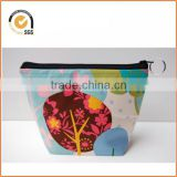 Tree and Owl Flower Print / Makeup Bag / Cosmetic / Zipper Pouch By Chiqun Dongguan CQ-H02016