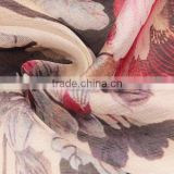 Factory custom-made silk linen fabric with digital print
