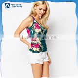 sex beautiful girl tube tops women screen printing flower design bamboo tank top in bulk cooling vest women