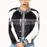 Fashion Girls long wool jacket,wool varsity jackets