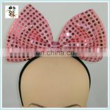 Cute Costume Party Fancy LED Flash Pink Minnie Mouse Bow Headbands HPC-0740