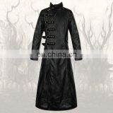 Men Black Steam Pop Punk Long Fashion Gothic Coat