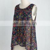 MIKA2323 Sleeveless Floral Printed Tank Top