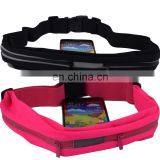 Outdoor Sweatproof Lycra Running Belt Elastic Waist Bag With Two Expandable Pockets