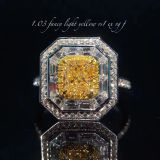 wholesale to supply the jewelry retailor fancy yellow diamond ring .with diamond GIA certificate. wholesale price
