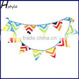 Colorful Chervon Flag DIY Garland Fabric Bunting Party Bunting Baby PL020