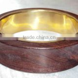 New Designer Wooden Bangle with Brass Framing For Women 10864