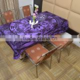 Indian Cotton Table Cloth Purple Compass Zodiac Printed Dinning Table Cloth Vintage Wall Hanging Throw Bed Sheet Cover TC29