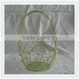handmade decorative craft egg shape beaded baskets with handle