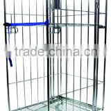 Metal wire laundry storage handling foldable roll US trolley