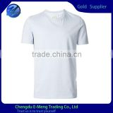 Light blue plain blank men tshirts with high quality