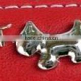 Zinc Alloy Smooth Surface Dog Shape Rivet Metal Accessories for Pet Collars