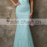 2016 new design with hand made Crocheted high quality Elegant Lace Mermaid Evening Dress