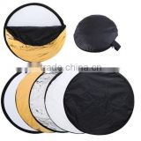 5-in -1 100cm diffuser kit for photography photo studio Gold/Silver round reflector board flash