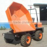3ton site truck dumper with turning rotary bucket,1.5cbm capacity