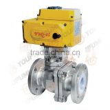 PFA Lined Ball Valve SS304 Electric Actuated