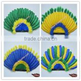 Cheap Wedding Decorations Indian Turkey Feather Headdress And Opera Headdress For Indian Carnival Headdress