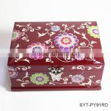 Fancy decorative wooden cosmetic box with drawers