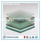 Various hot sale colored glass bulletproof soud proof glass double glazing laminated glass