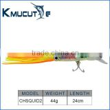 Kumucutie CHSQUID2 hydro squirt hard body soft PVC tail octopus fishing lure 24cm 44g soft octopus trolling lure fishing bait