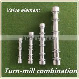 Valve rod of aluminium solenoid valve of parts turn-mill combination