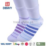 2015 New Arrival Striped Women soft cotton new fashion sport ankle socks
