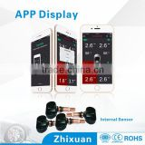 Latest bluetooth 4.0, Bluetooth TPMS for smartphone, tire pressure data displayed on mobile phone