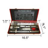 1/2 Inch Drive 27 Pieces Socket Wrench Set with Metal Box Spanner Set