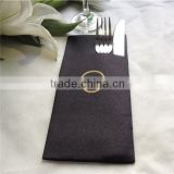 50 Counts Linen feel/Airlaid paper Napkins Premium Quality with a pocket black