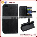 Factory price wallet flip leather cover for huawei p8 lite case cover