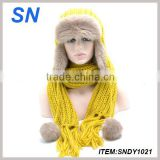high quality beanie knitting winter earflap hat