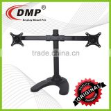 CURVE-D-STAND LED/LCD Dual Monitor Free Standing Desk Mount Stand Heavy Duty Fully Adjustable fits 27 inch Screen