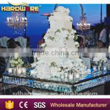 2016 NEW glass top wedding table metal base dining table cake table                                                                         Quality Choice