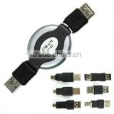HOT USB FIREWIRE 1394 CABLE TRAVEL KIT 6 ADAPTER CONVERTER
