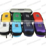 2014 Best seller leather electronic cigarette small size colourful eGO zipper box for e cigarette