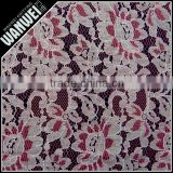 red and white double color flower cotton nylon fabrics for Ladies knitting and rayon viscose mercerized fabric